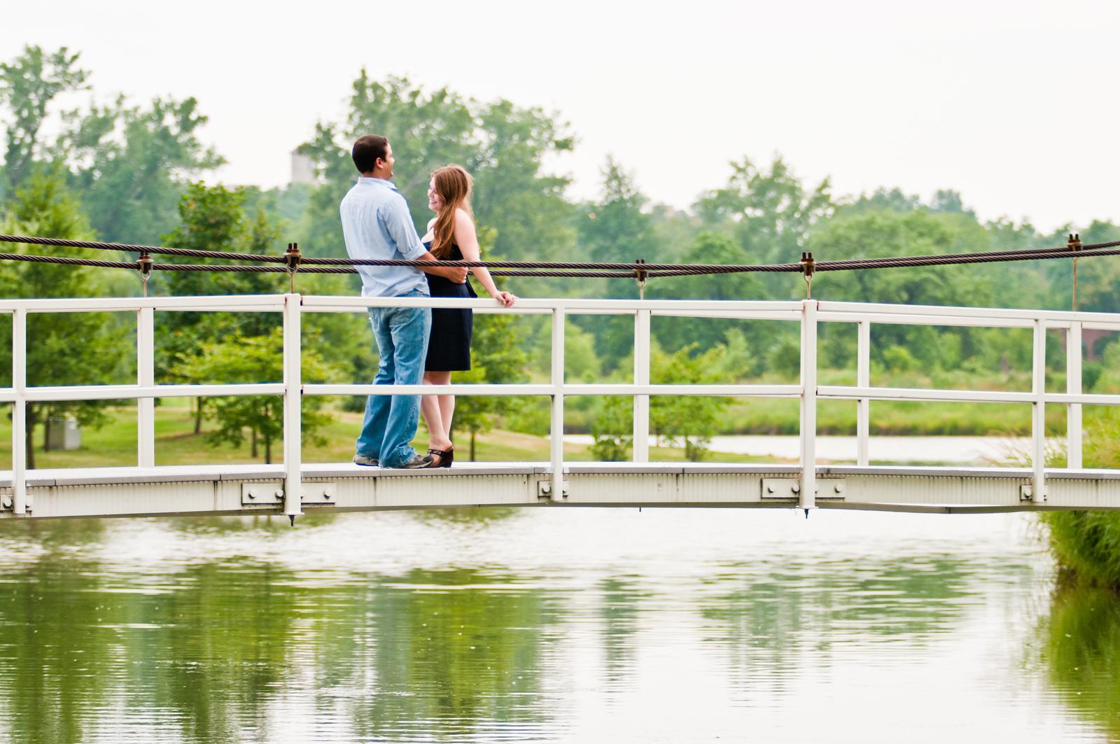 Austin Walker and Becky Black enjoying time together at Forest Park