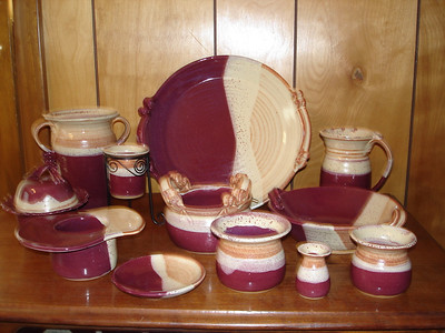 Burgandy and Rust Glaze