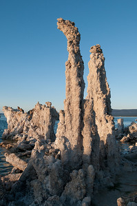 Tufa formations at Mono Lake at sunset
