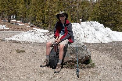 On a hike up to Saddlebag Lake to do some trout fishing