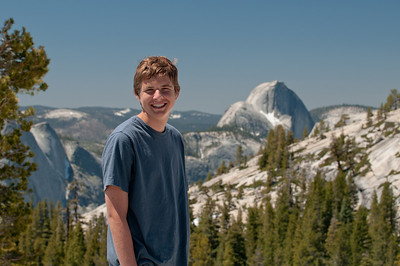 Kevin in front of Half Dome