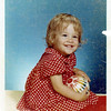 this child does not look like me, but I guess it's the same polka dot dress