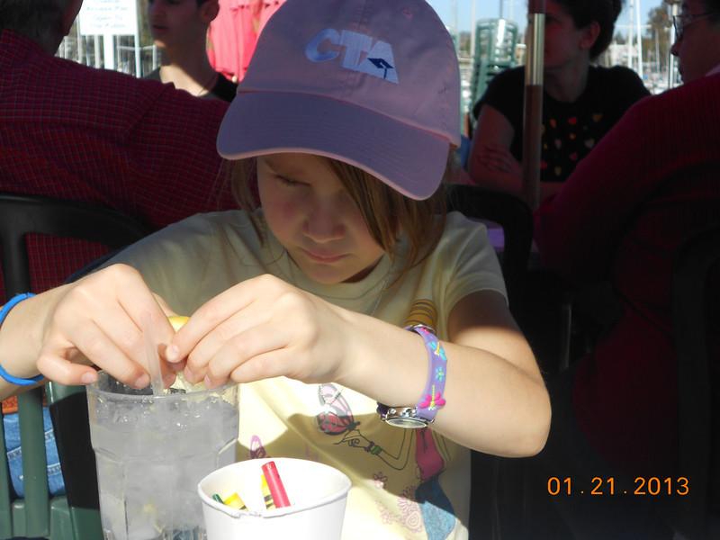 Lunch at Aldos on the Santa Cruz Harbor