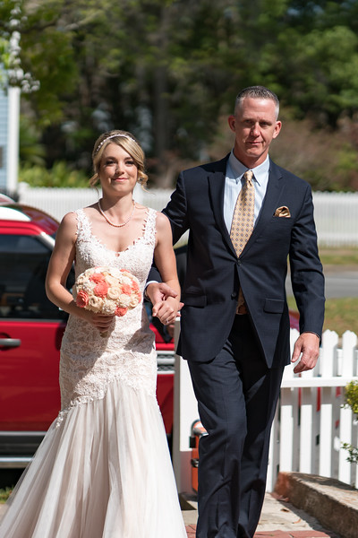 Dad giving away the bride