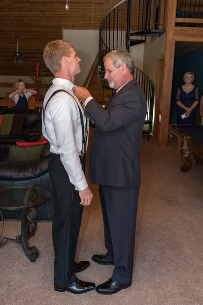 Dad getting the tie right