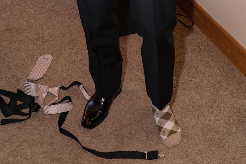 The groom's lucky socks
