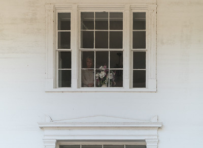 Mysterious woman in the window