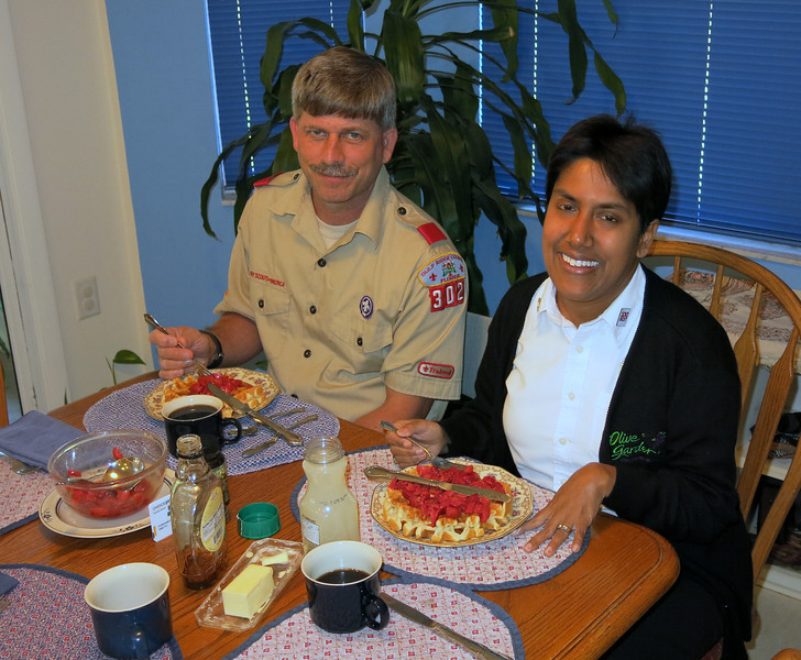 Lori and Joe at the Belgian Waffle Party in Hernando