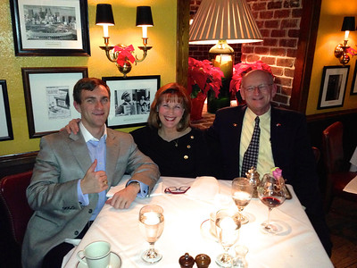 Morgan, Ann & Russell Bellmor At Bones Restaurant Atlanta December 2012