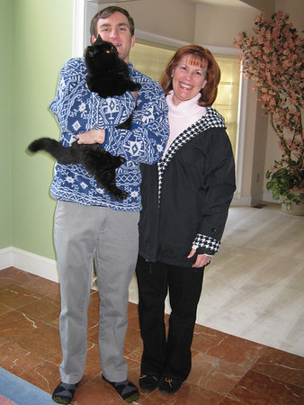 Morgan & Ann Bellmor With Spooky - Morgan Returning To Houston 12-29-12