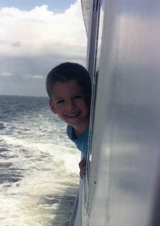 Ben on boat