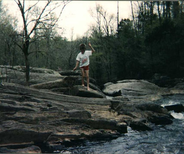 Young Ben on rocks