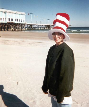 Ben on beach - hat