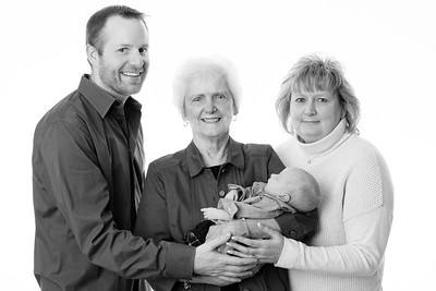 Ben with Great Grandma Joanie, Grandma Debbie, & Grandma Betty 12.06.14
