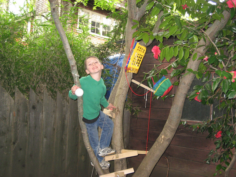 Max in his treehouse