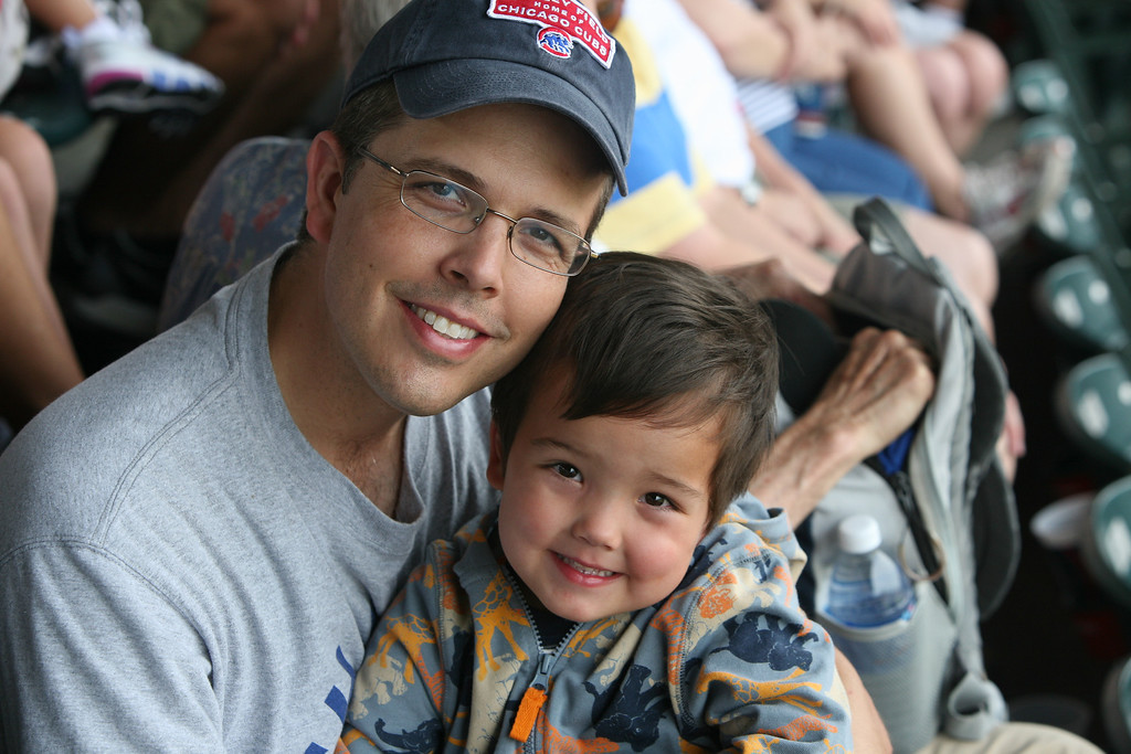 Daddy and Reece at the Cubs game