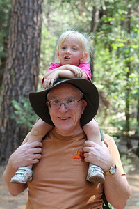 Now that's how you hike in Yosemite...on Papa's shoulders.