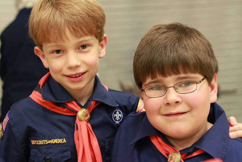 Cub Scout ceremony.