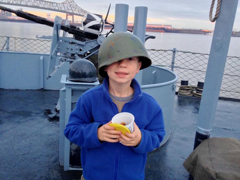 USS Kidd Sleepover, February 2014.