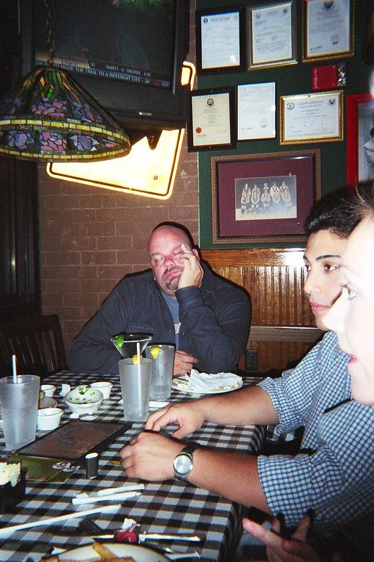 Mark enjoying his margarita