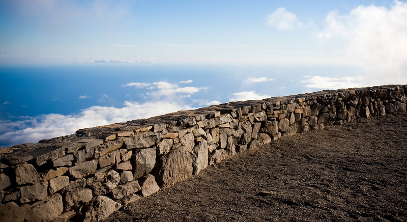 Terrace outside the Haleakala Crater Observatory, facing South.