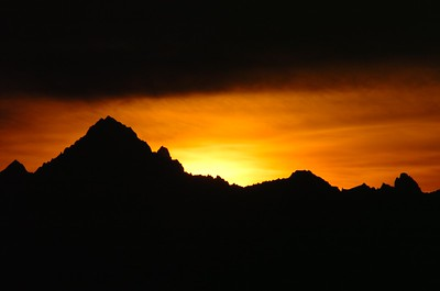 Sunrise over the Mont Blanc seen from our bed room window.