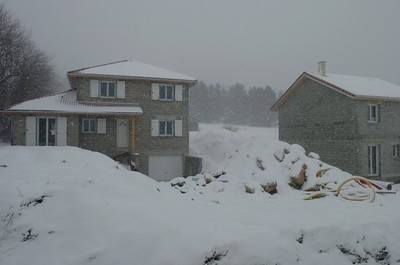 The 28th of Jan serious snow started to fall.