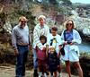 at Point Lobos, CA:  Uncle Bill, JP, Willa, Douglas, Leah and Beth