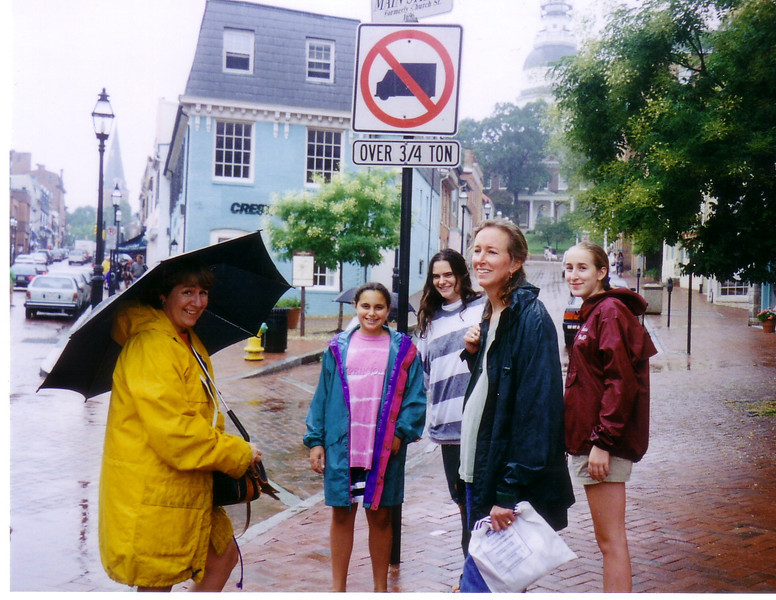 In Annapolis, MD: Joan McDonough, Willa, Leah, Beth, and Katie
