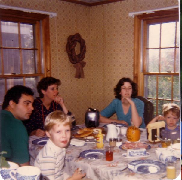 JP, Jon Tracosas, Beth (pregnant w/Leah) Laurie, and John Joseph