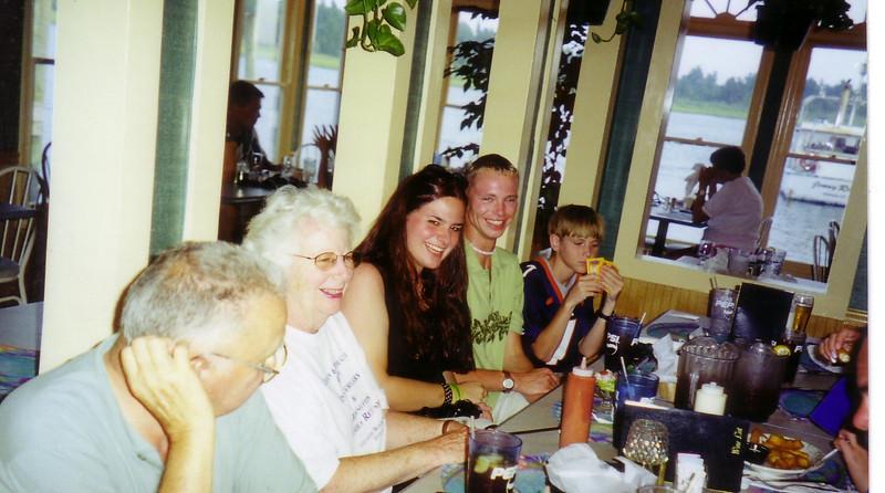 50th Anniversary Dinner:  Doug, Jean, Leah, John Patrick, Douglas