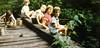 Kerryl Wyland, Lynn Johnston, Craig and Dee Dee Wyland, Beth Johnston at Camp Dyerbrook