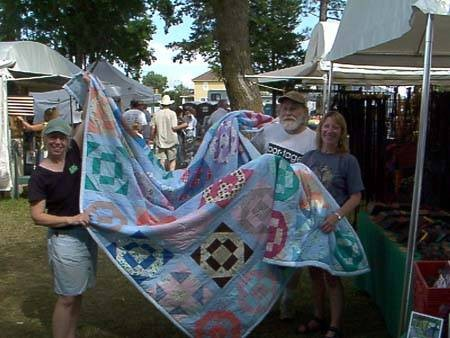 Our new quilt...Blueberry Festival in Ely, Minnesota