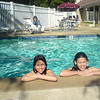Saturday April 26th...Minda, Marissa and Samantha at Campbell's Residence Inn pool. A nice break before the anticipated Bocce ball rumble.