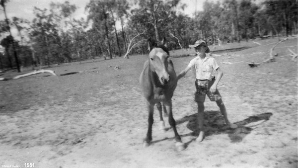 Teenager Bill Harris with Chance at Boyanda