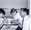 Sari, Evie and Jack Birnbaum playing chess on Amtrak en route to D.C. Memorial Day weekend 1966