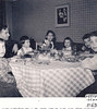 At Gershbaums in Crown Heights, Brooklyn, NY, Feb. 1957<br /> From left: Elihu, Jack, Sari, Miriam, Evie, David, Judah