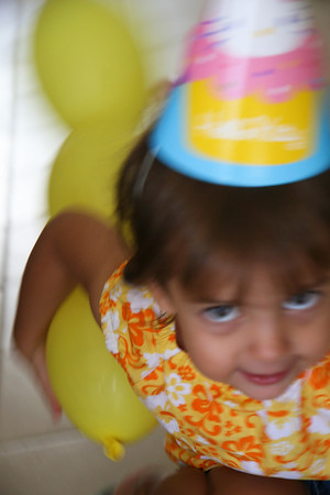 Birthday Balloons and Windy Breakfast St Thomas USVI 8 2009