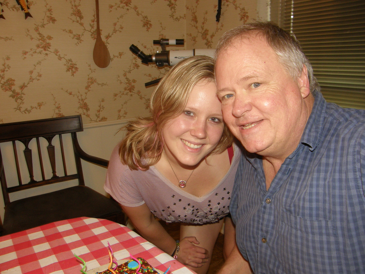 Katie and Dad on Dad's 21st birthday.  Er, plus 40.  Hee hee.