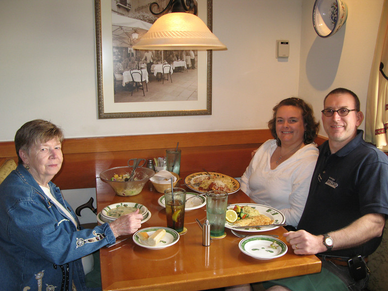 Mom, Tanya and Myself at the Olive Garden