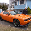 Challenger SRT - it's a little hard to see because it is overcast.  It's easier to see it in sunlight
