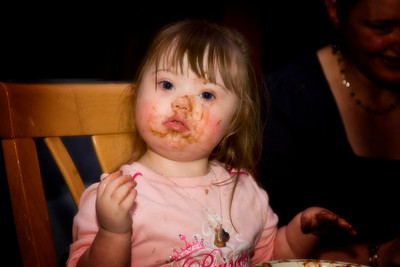 By evening's end, she had totally relinquished her princess status in favour of chocolate debauchery