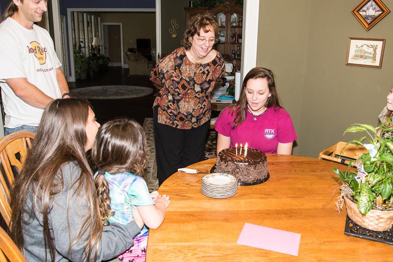 Celebrating Carolyn's and Emily's birthdays 2017