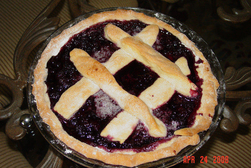 First attempt at baking (blackberry pie)