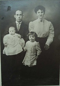 George Bledden and Family, March 1910