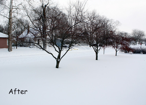 You are looking at about 12 inches of fresh snow. I'll show you what I mean.
