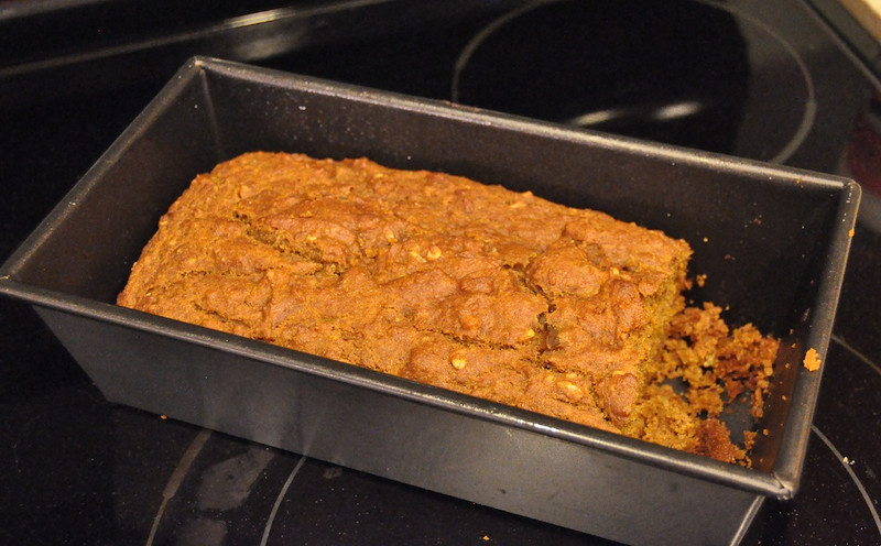 Real food whole-wheat pumpkin bread