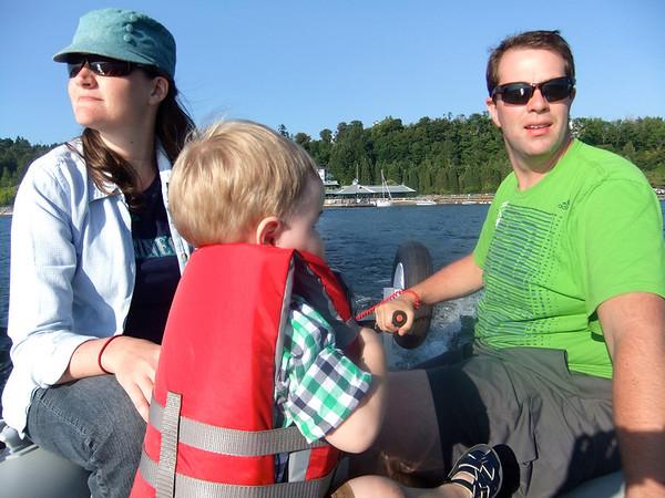 Boating on Lake Washington - July 2013