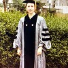 Elissa Barmack at her Ph.D. graduation from Columbia, 196?