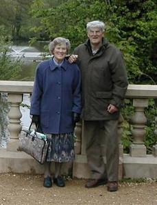 Mum & Dad on the bridge at Newent Lake.